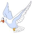 beautiful and happy cartoon pigeon vector image vector image