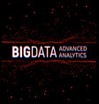 big data abstract visualization lines and vector image vector image