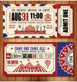 Birthday card with Circus Ticket vector image