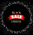black friday sale with frame vector image vector image