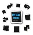 blank vintage photo frame mockup set isolated on vector image vector image