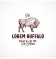 buffalo abstract sign symbol or logo vector image vector image