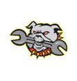 Bulldog Dog Spanner Head Mascot vector image vector image
