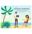 business conference people vector image vector image
