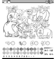 calculating game coloring page vector image