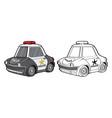 car police cartoon toy transport emergency vector image vector image