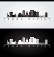 cedar rapids iowa usa skyline and landmarks vector image vector image