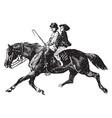 children on a horse vintage vector image