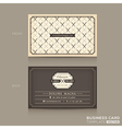 classic business card design template vector image vector image