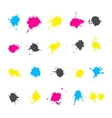 CMYK ink splashes elements collections vector image vector image