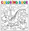 coloring book dinosaur theme 9 vector image vector image