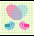 Couple of birds in love vector | Price: 1 Credit (USD $1)