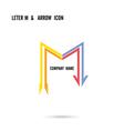 Creative letter M icon logo design vector image vector image