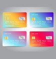 credit cards set with colorful abstract vector image vector image