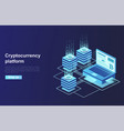 cryptocurrency and blockchain platform creation vector image