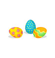 cute eggs with ornaments traditional treats for vector image vector image