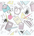 cute school seamless abstract pattern vector image vector image