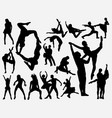 dance training silhouette vector image vector image