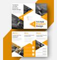 design a white tri-fold brochure vector image vector image
