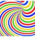 Design colorful vortex movement background vector image vector image