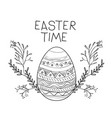 easter time poster with easter egg with decorative vector image
