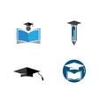 education logo template icon vector image vector image