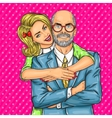 Elderly father and his beloved daughter vector image