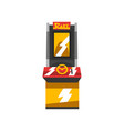 electronic slot machine vector image vector image