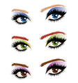 Eye make up vector image vector image