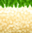 Fir Tree Border vector image vector image