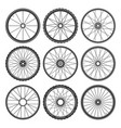 fitness bicycle wheelss vector image