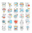 Flat Color Line Icons 12 vector image vector image