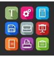 flat icons for web and mobile applications flat vector image vector image