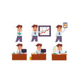 flat set of office worker in different vector image vector image