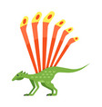flat style prehistoric animal vector image vector image