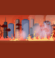 forest fires in australia wildfire city street vector image