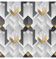geometric decor stripes white and golden element vector image vector image