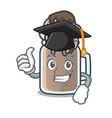 graduation milkshake character cartoon style vector image vector image
