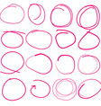 Hand drawn circle set vector image