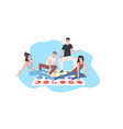 happy friends having fun together people playing vector image