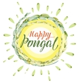Happy Pongal lettering text Harvest of rice and vector image vector image