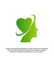 head love logo head intelligence logo designs vector image