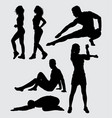 health sport silhouette vector image vector image