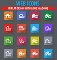 house type icons set vector image
