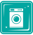 icon with washing machine symbol vector image