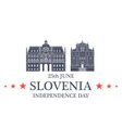 Independence Day Slovenia vector image vector image