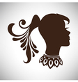 Indian woman in profile with tail and necklace vector image