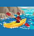 kayaking vector image