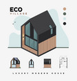 luxury modern houses eco village isometric vector image vector image