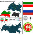 Map of Republic of Tatarstan vector image vector image
